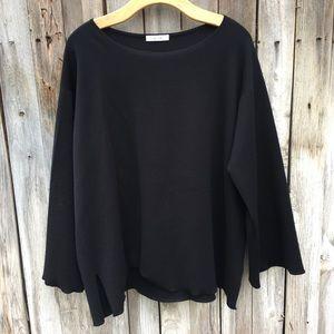 The Row Jaslyn Virgin Wool Blend Sweater Black L